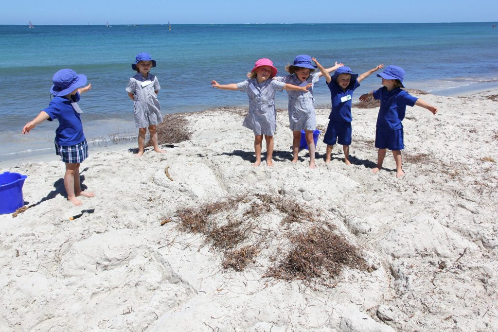 School beach activity